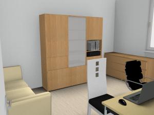 Blick ins Arbeitszimmer - aus Zeitgründen nur mit geringer Rendering-Qualität