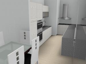 Auch eine Küche werden wir haben - obgleich wir hier beim Design ob fehlender Informationen etwas improvisieren mussten