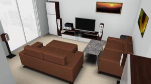 Blick auf unsere zukünftige Wohnecke .. bereits mit neuen Möbeln