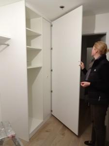 Da es vom Möbelverkauf keine Bilder gibt, hier noch ein Eindruck unserer Garderobe mit Apothekerschrank für Schuhe