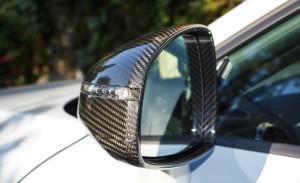 Zum Schlüsselanhänger passende Echtcarbon-Außenspiegel (original Audi)