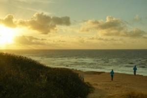 Nordseeidyll Kampen - Das Rote Kliff bei Sonnenuntergang