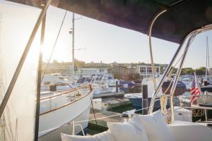 Impressionen des Tagesanbruchs in Newport Beach